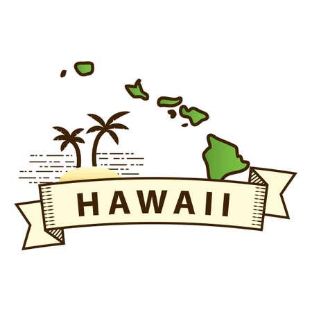 coastline: hawaii state map