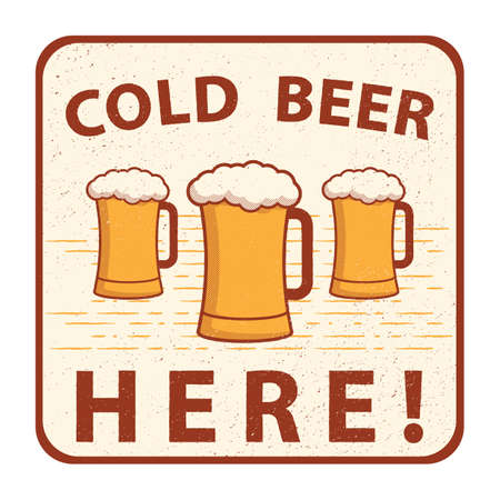 cold beer: cold beer sign