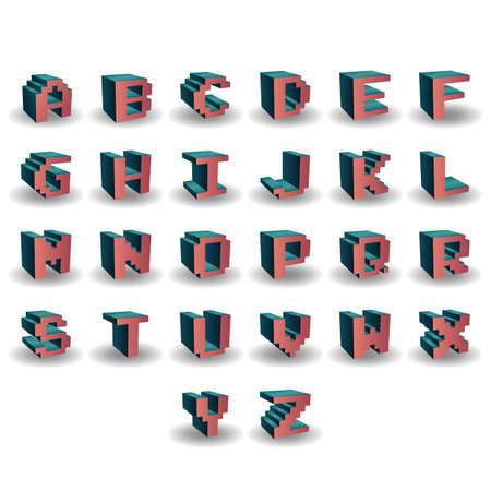 u  s  a: alphabet set