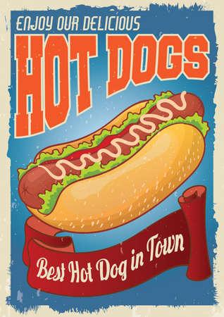 Hot-Dog-Plakat
