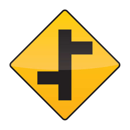 staggered: staggered sign