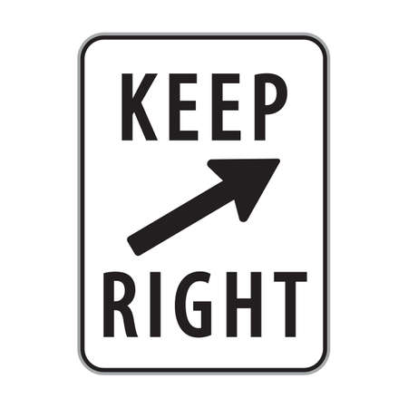 keep: keep right sign