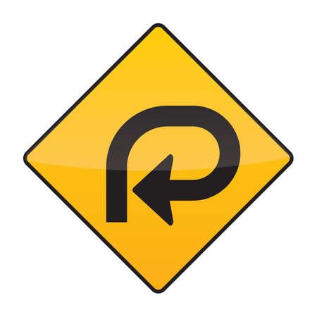 bucle: se�al de advertencia de bucle de 270 grados