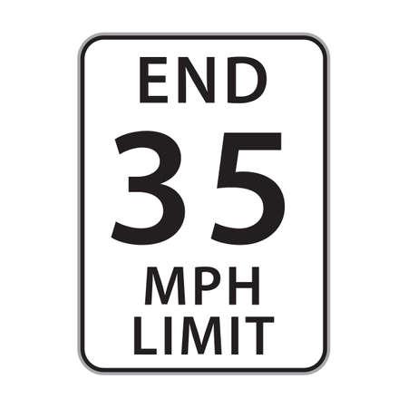mph: 35 mph limit sign