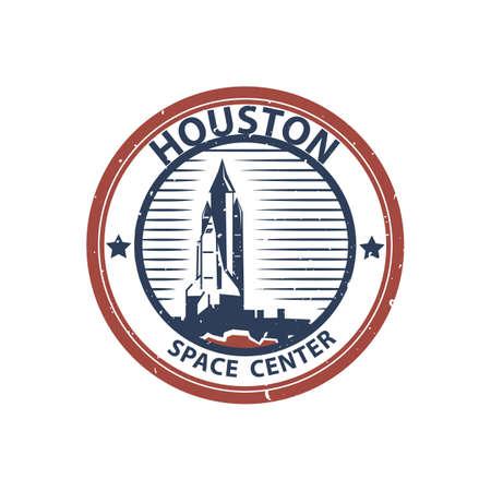 ヒューストン宇宙センター  イラスト・ベクター素材