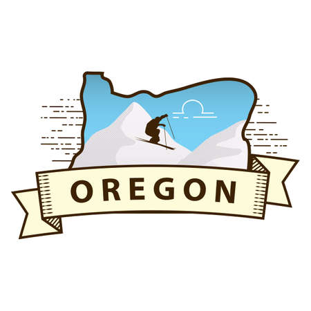 oregon: oregon state map