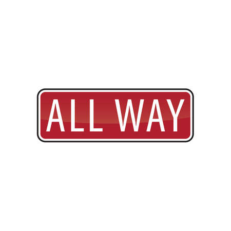 roadsigns: all way road sign Illustration