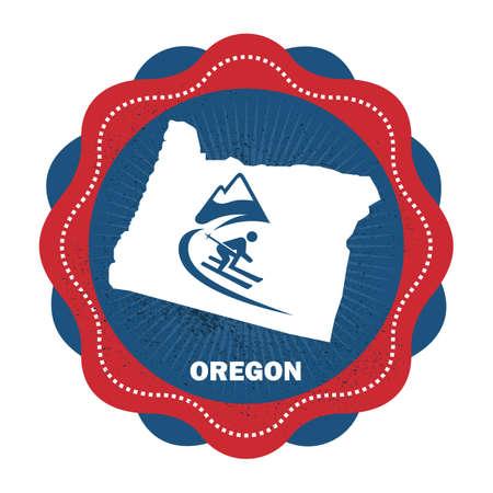 oregon  snow: oregon state map