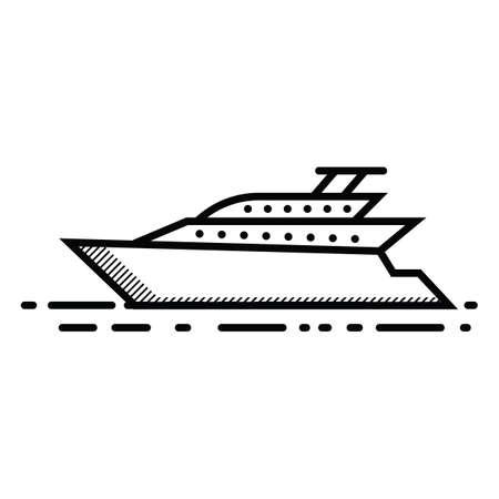cruise schip Vector Illustratie
