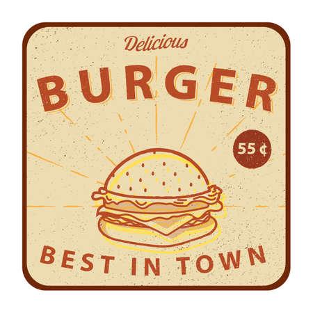 at sign: burger sign