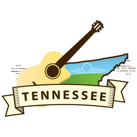 tennessee state map Illustration
