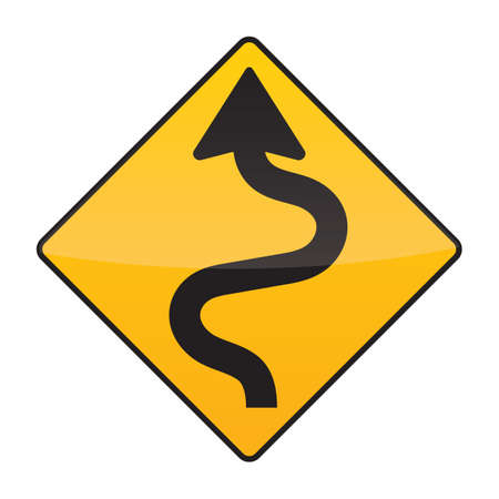 winding: winding road sign