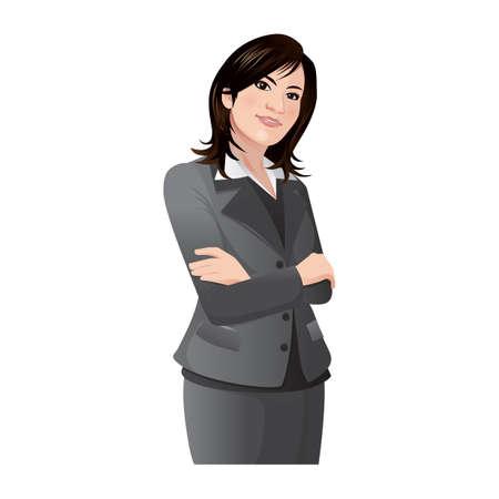 businesswoman: businesswoman Illustration