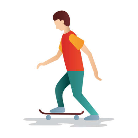 man side view: man skating
