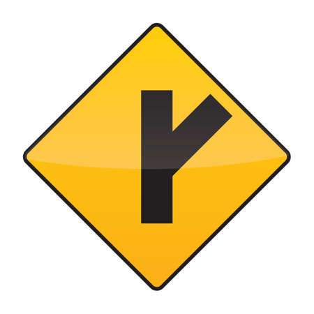 intersection: intersection ahead warning sign