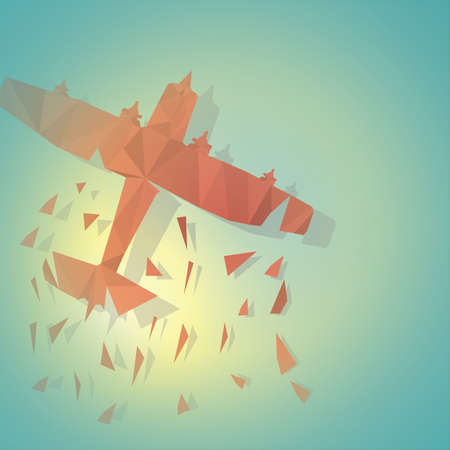 glider: faceted glider plane Illustration