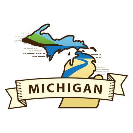 michigan state: michigan state map