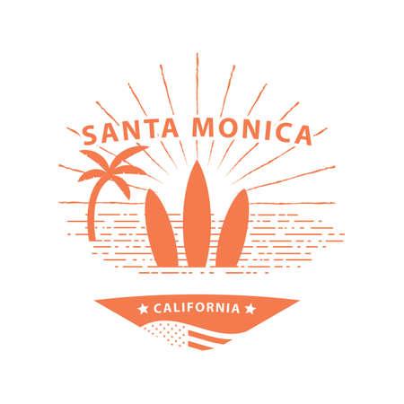 monica: santa monica Illustration