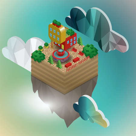 ladder  fence: floating island