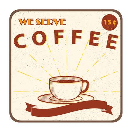 fresh brewed: coffee sign