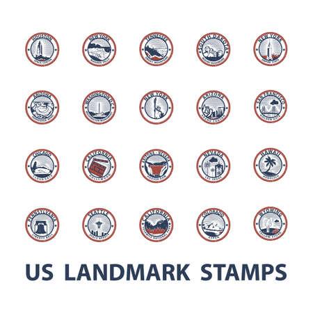usa landmark stamps