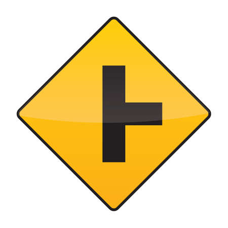 side of the road: side road right road sign