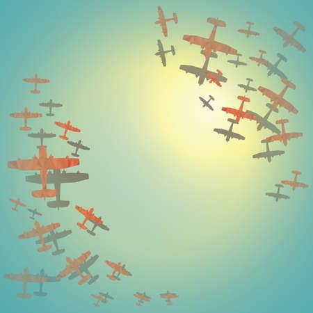 aerei aliante sfaccettate