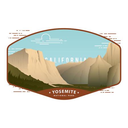 Parque Nacional de Yosemite Ilustración de vector