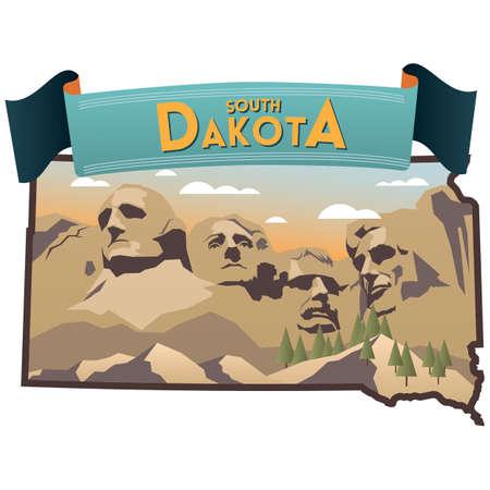 south dakota state map