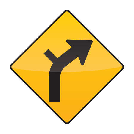 junction: side road junction on a curve right sign