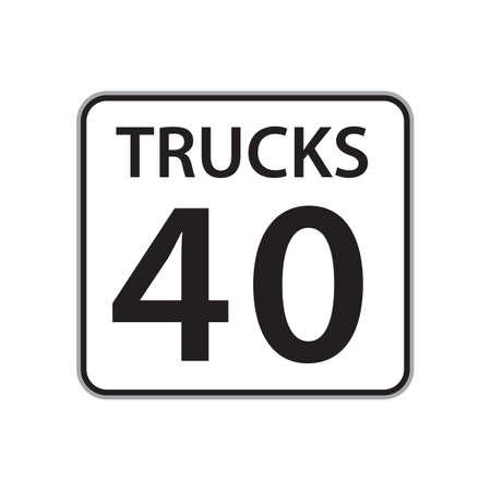 40: trucks 40 sign