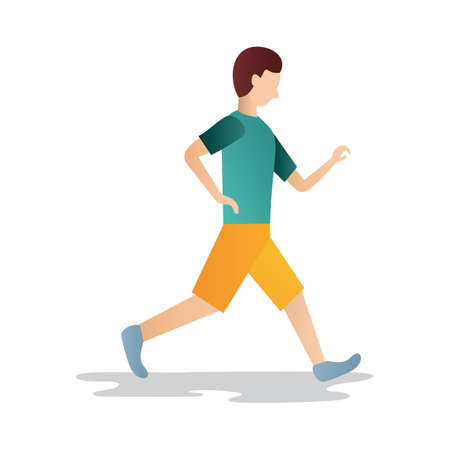 brisk: man walking