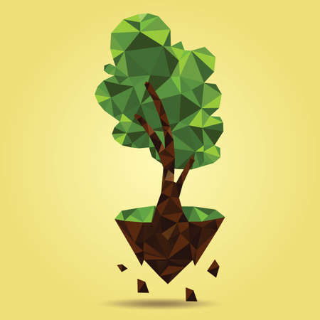 floating island: tree on floating island