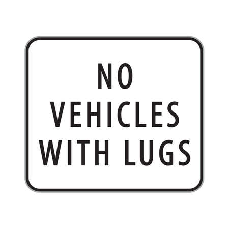 lugs: no vehicles with lugs sign