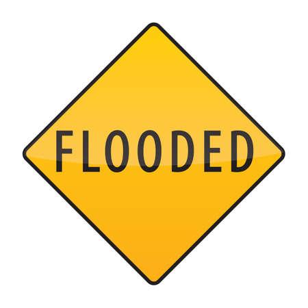 flooded: flooded warning sign