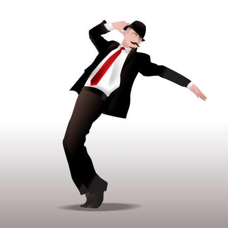 human beings: man dancing