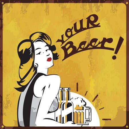 Your beer wallpaper. Stock Illustratie
