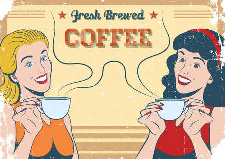 brewed: fresh brewed coffee poster