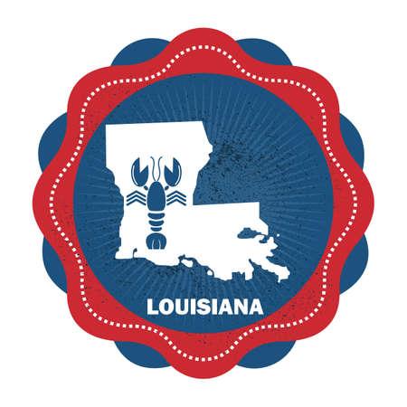 louisiana state: louisiana state map Illustration