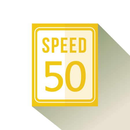 snelheidslimiet vijftig teken Stock Illustratie