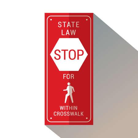 stop voor voetgangers binnen zebrapad