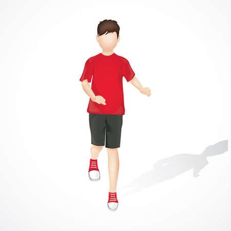 running: boy running Illustration