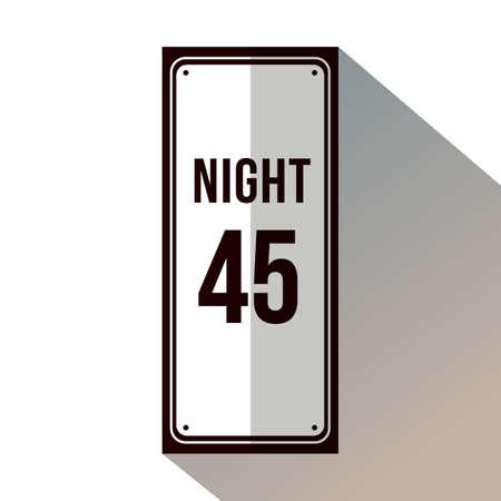 Limite de velocidade durante o sinal da noite Foto de archivo - 81535917