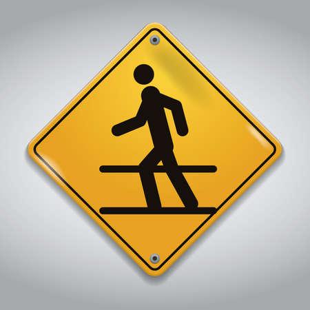 pedestrian: pedestrian crossing road sign