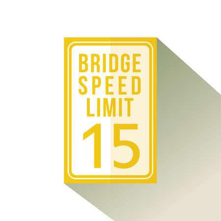 bridge speed limit fifteen sign