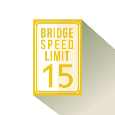Límite de velocidad del puente quince signo Foto de archivo - 81535918