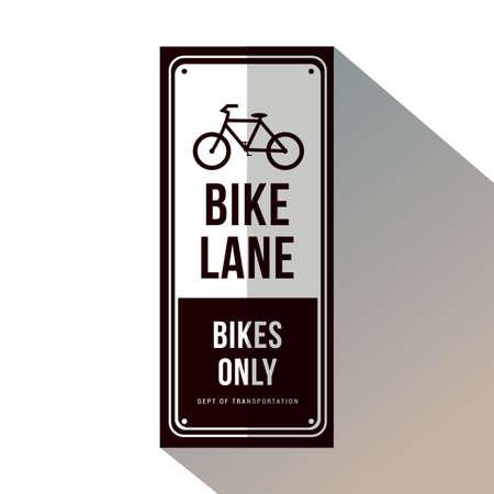 自転車レーンの記号。  イラスト・ベクター素材