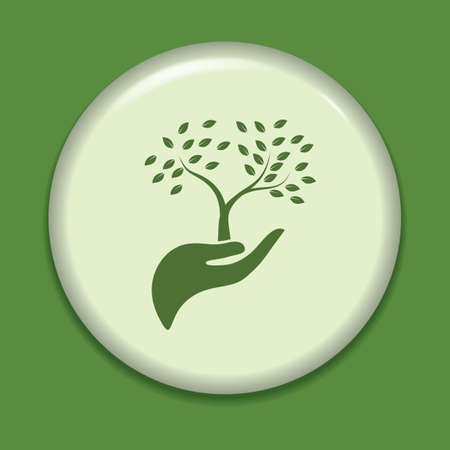 button icons: hand holding tree icon