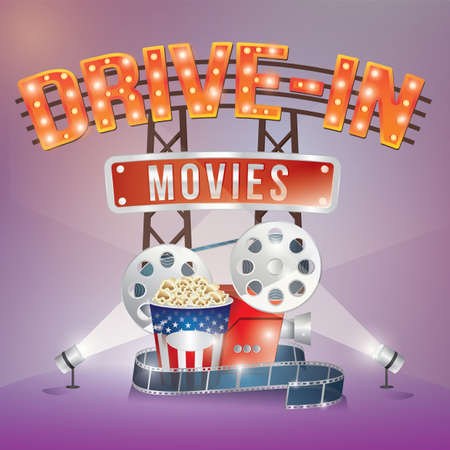 drive in movies Illustration