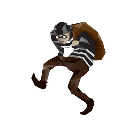 thief with bag Illustration